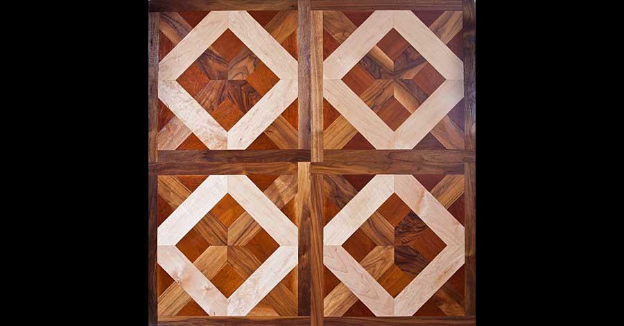 custom pattern wood floor Dallas, Texas, French-Brown Floors